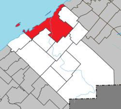 Location within Rimouski-Neigette RCM.