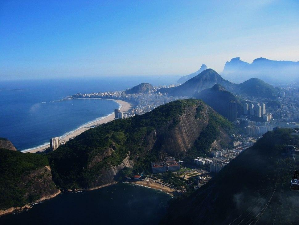 Rio de Janeiro from Sugarloaf mountain, May 2004