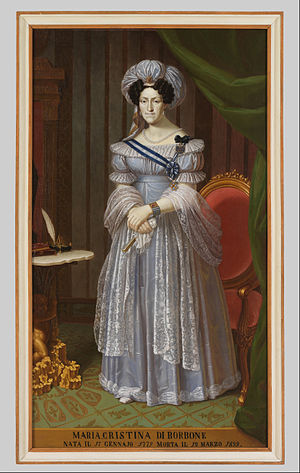 Maria Cristina of Naples and Sicily - Image: Ritratto di Maria Cristina di Borbone Google Art Project