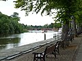River Dee in Chester - view southwest towards Old Dee Bridge from The Groves 01.jpg