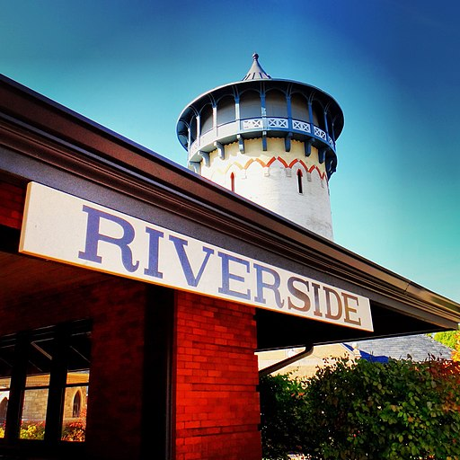 Riverside, Illinois Water Tower and Train Station