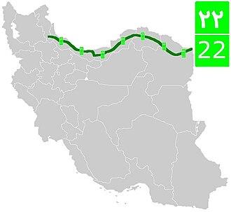 Road 22 (Iran) - Image: Road 22 (Iran)