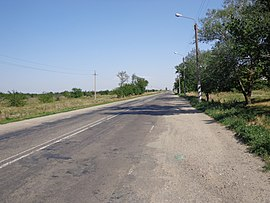 Road from Kostyantynivka to Pryazovske.JPG