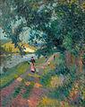 Robert Antoine Pinchon, Promenade sur le chemin de Halage, oil on canvas, 81 x 65 cm.jpeg