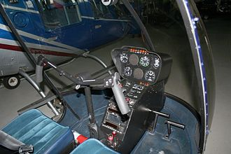 Helicopter flight controls - Cyclic control in a Robinson R22