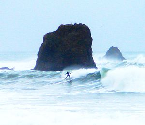 Pacifica, California - Image: Rockaway Beach Surfer Pacifica