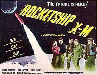 "B movie - Rocketship X-M (1950), produced and released by small Lippert Pictures, is cited as possibly ""the first postnuclear holocaust film"". It was at the leading edge of a large cycle of movies, mostly low-budget and many long forgotten, classifiable as ""atomic bomb cinema""."