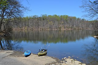 Rocky Gorge Reservoir Maryland reservoir on the Patuxent River