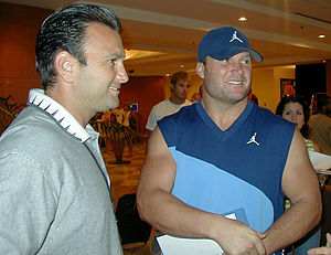 Zach Thomas - Thomas (right) with agent Drew Rosenhaus