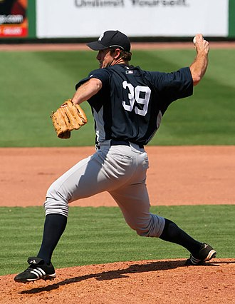 Ross Ohlendorf - Ohlendorf pitching for the New York Yankees in 2008 spring training