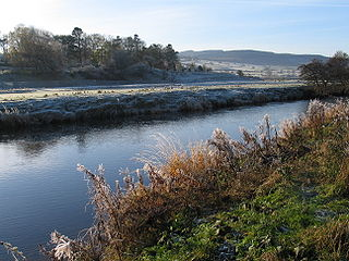 River Coquet river in Northumberland, United Kingdom