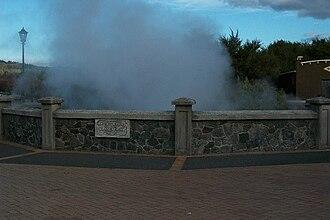 Rotorua - Hot springs present in much of Rotorua