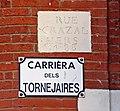 Rue des Tourneurs (Toulouse) Plaque ancienne.jpg