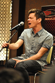 Ruess at a radio show in August 2012