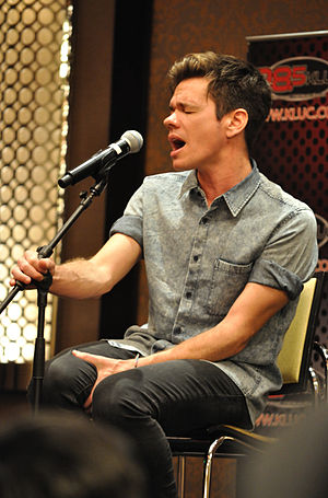 Nate Ruess - Ruess at a radio show in August 2012