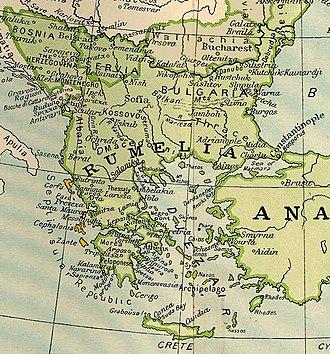 Rumelia - Map of Rumelia in 1801
