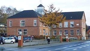 Ryomgård - Ryomgård Realskole,  School from 1913
