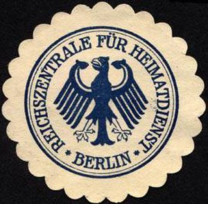 Federal Agency for Civic Education - The seal of the Reichszentrale für Heimatdienst, ca. 1925