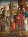 São Vicente, suas irmãs Sabina e Cristeta, e Santo António (c. 1575-1580) - António de Oliveira (?), Museu de Arte Sacra da Sé de Évora.png
