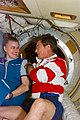 S79E5097 - STS-079 - Greeting between astronauts Lucid and Blaha in Docking Module - DPLA - e3dbc08231c5b5d048137d07a48ce54a.jpg
