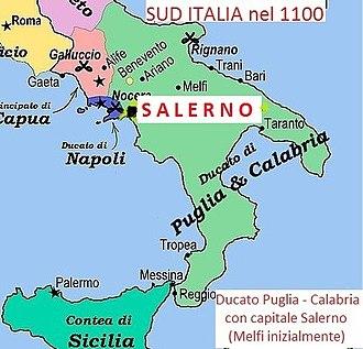 County of Apulia and Calabria - Image: SALERN Ocapitale Ducato Puglia Calabria