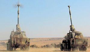 SANDF G6 Rhino Klipdrift Military base