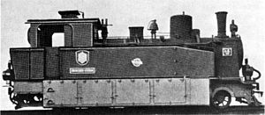 South West African 2-8-0T - Eight-coupled tank no. LE 15, c. 1912