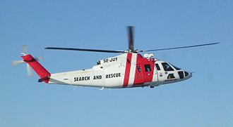 Sikorsky S-76 - S-76C search and rescue helicopter operated by Norrlandsflyg.