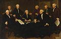 SA 7349-De regenten van het Oude Mannen- en Vrouwengasthuis-Vier regenten van het Oude Mannen- en Vrouwengasthuis, met de binnenmoeder, de binnenvader, de boekhouder en een oude man.jpg