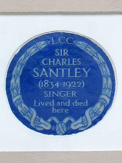 Sir charles santley (1834 1922) singer lived and died here