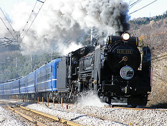 East Japan Railway Company - Special steam train on the Jōetsu Line in Gunma Prefecture