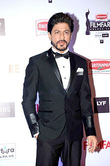 Shah Rukh Khan looking towards camera