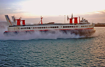 BHC SR-N4 The world's largest non-military hovercraft, carrying 418 passengers and 60 cars