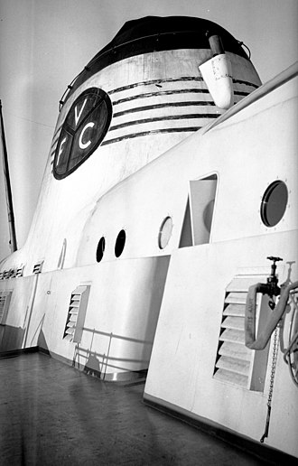 Little Creek-Cape Charles Ferry - Streamlined superstructure of the SS Princess Anne (1933).