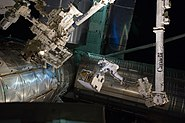 STS-135 EVA Mike Fossum 6