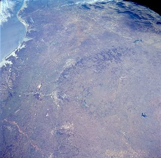 Edwards Plateau - A photograph taken by NASA of the Edwards Plateau and Balcones Escarpment
