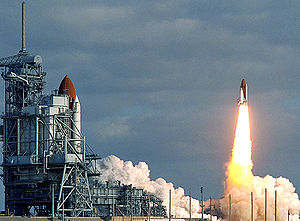 Goddard High Resolution Spectrograph - STS-31 heads into orbit with the Hubble Space Telescope, and its original instrument suite including GHRS.