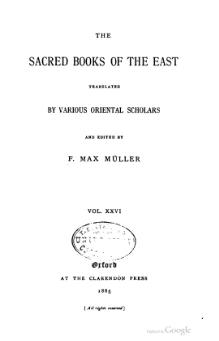Sacred Books of the East - Volume 26.djvu