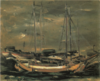 SaekiYūzō-1926-Ship at Anchor.png