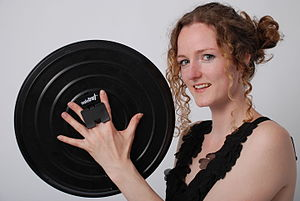 Safetray - Inventor Alison Grieve holds a Safetray
