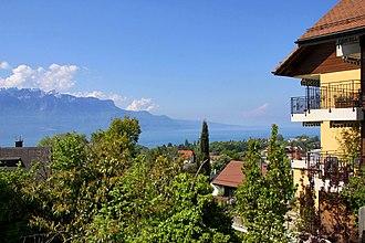 Saint-Légier-La Chiésaz - View toward Lake Geneva from Saint-Légier-La Chiésaz