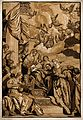 Saint Catherine of Alexandria. Colour woodcut by J.B. Jackso Wellcome V0033430.jpg