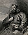 Saint Francis of Assisi. Line engraving by L. Vorsterman aft Wellcome V0032052.jpg