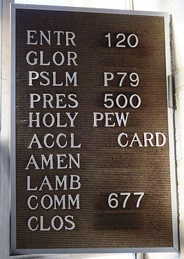 Saint Philip the Apostle Church (Columbus, Ohio) - hymn numbers.jpg
