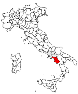 Location of Province of Salerno