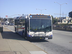 SamTrans - The newest type of bus operated by SamTrans, the Gillig BRT. It's replacing the Gillig Phantom series on all its routes.