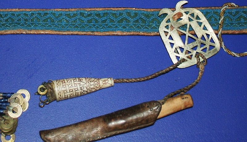 File:Sami belt and needle cases.JPG