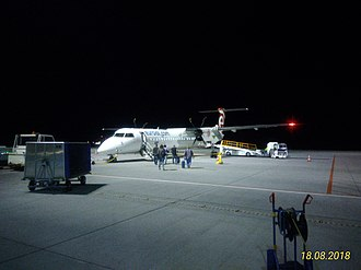 Olsztyn-Mazury Airport - Airplane to Lviv on apron