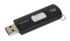 Auxiliary memory - USB flash drives, a type of secondary storage.