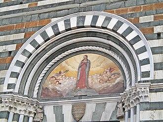San Francesco, Prato - Lunette on the facade